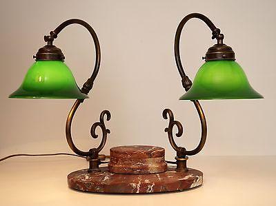 Bankerleuchte Einzigartige original Jugendstil Schreibtischleuchte um 1920 Lampe 1