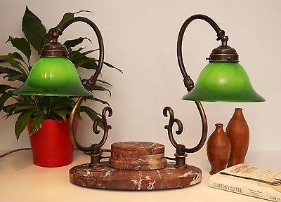 Bankerleuchte Einzigartige original Jugendstil Schreibtischleuchte um 1920 Lampe 2