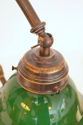 Bankerleuchte Einzigartige original Jugendstil Schreibtischleuchte um 1920 Lampe 6