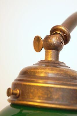 Bankerleuchte Einzigartige original Jugendstil Schreibtischleuchte um 1920 Lampe 9