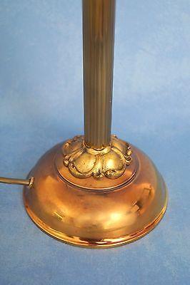 Wunderschöne original Jugendstil Leselampe Tischlampe Berlin Messing Opalglas 7