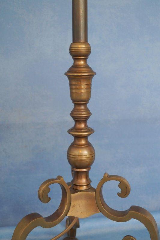 Sehr elegante original Jugendstil Landhaus Stehleuchte Stehlampe 1920 Messing 2