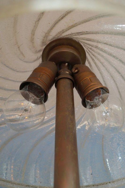 Sehr elegante original Jugendstil Landhaus Stehleuchte Stehlampe 1920 Messing 3