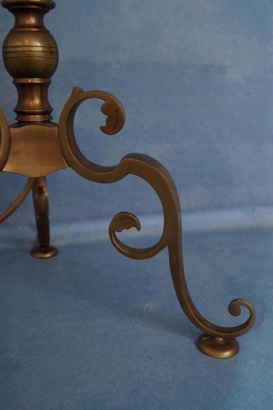 Sehr elegante original Jugendstil Landhaus Stehleuchte Stehlampe 1920 Messing 4