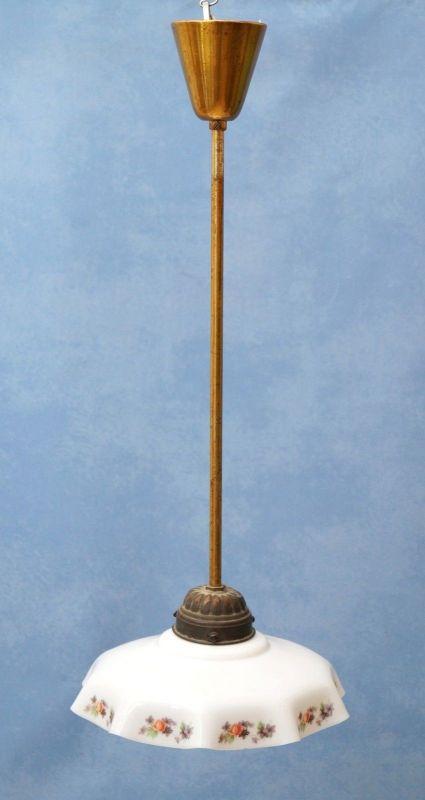 Wunderschöne Shabby Chic Deckenlampe antik Jugendstil 1920 Deckenleuchte Messing