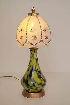 Garantiertes Unikat Jugendstil Tischleuchte Glas Vase