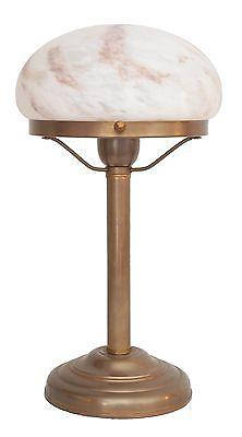 Zierliche Art Déco Pilzlampe Tischleuchte Bauhaus Messing