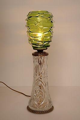 Absolut einzigartige Jugendstil Glas Tischleuchte mundgeblasen Schreibtischlampe 0