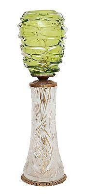 Absolut einzigartige Jugendstil Glas Tischleuchte mundgeblasen Schreibtischlampe 1