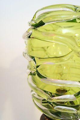 Absolut einzigartige Jugendstil Glas Tischleuchte mundgeblasen Schreibtischlampe 10