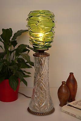 Absolut einzigartige Jugendstil Glas Tischleuchte mundgeblasen Schreibtischlampe 2