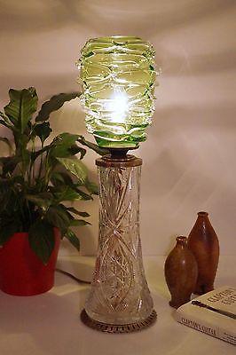 Absolut einzigartige Jugendstil Glas Tischleuchte mundgeblasen Schreibtischlampe 3
