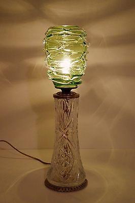 Absolut einzigartige Jugendstil Glas Tischleuchte mundgeblasen Schreibtischlampe 4