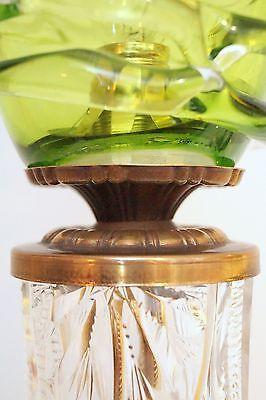 Absolut einzigartige Jugendstil Glas Tischleuchte mundgeblasen Schreibtischlampe 8