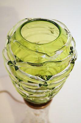 Absolut einzigartige Jugendstil Glas Tischleuchte mundgeblasen Schreibtischlampe 9