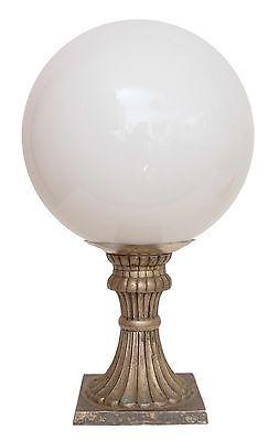 Sehr große Jugendstil Schreibtischleuchte Einzelstück Opalglas Lampenmanufaktur