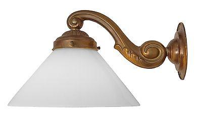 Einzelstück romantische original Jugendstil Wandleuchte Wandlampe Messing 1920