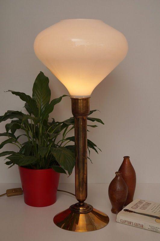 Einzigartige Art Déco Salon Tischlampe Schreibtischlampe Messing Berlin 1