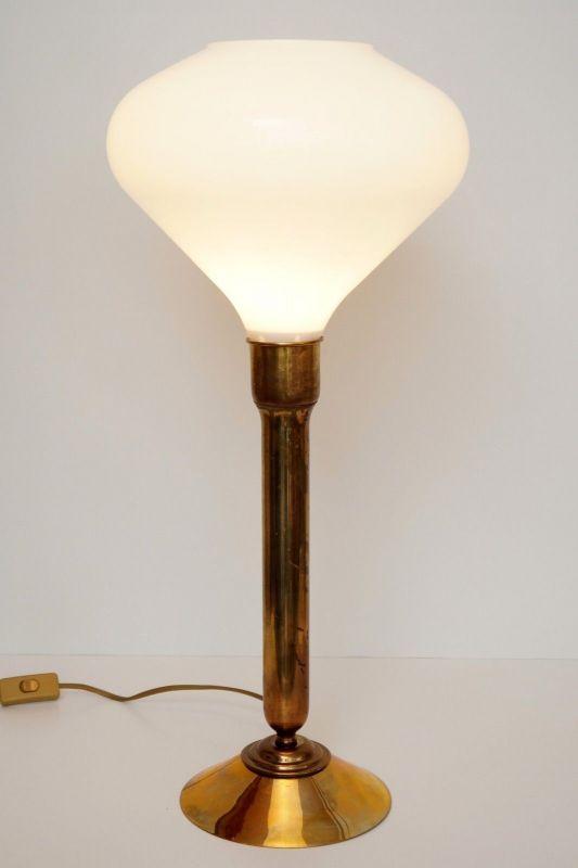 Einzigartige Art Déco Salon Tischlampe Schreibtischlampe Messing Berlin 2