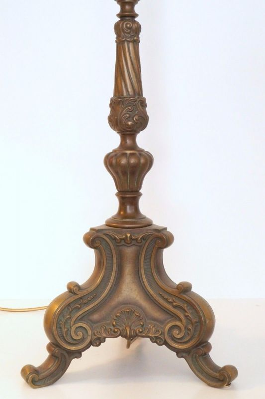 antike orig jugendstil stehlampe herrenzimmer messing 1920 stehleuchte 147 cm. Black Bedroom Furniture Sets. Home Design Ideas