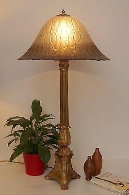 Riesige original Barock Prunkleuchte Salon Stehlampe Messing 96 cm Unikat 1880 1