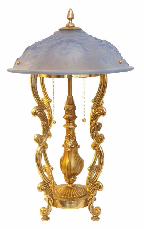 Weltweites Unikat Jugendstil Design Tischleuchte Messing Lampe Stehlampe ArtDeco
