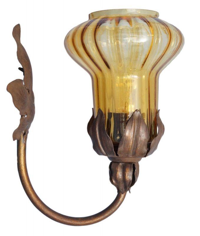 Wunderschöne Wandlampe Wandleuchte Wandlampe floral Messing Jugendstil