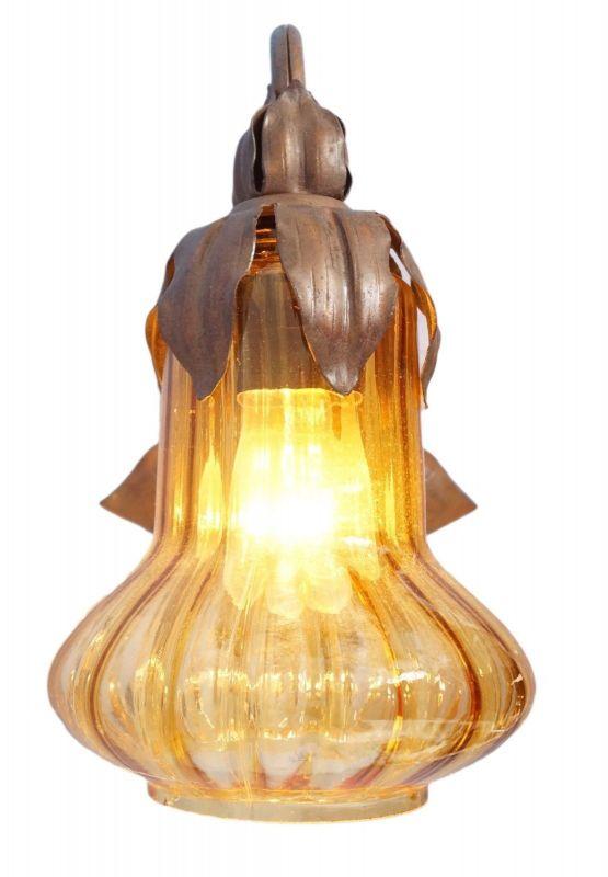 Wunderschöne Wandlampe Wandleuchte Wandlampe floral Messing Jugendstil 2