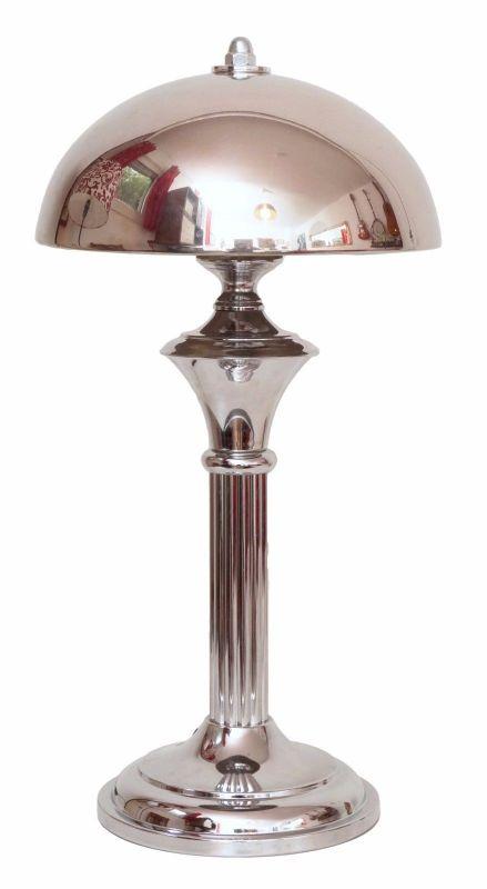 Art Déco Bauhaus Tischleuchte Chrom Unikat Retro Bankerlampe Schreibtischlampe