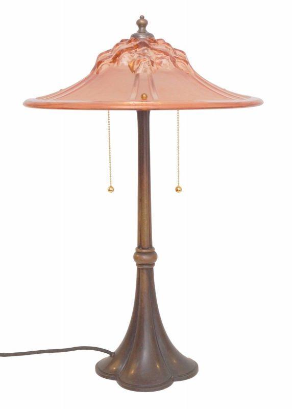 Einzigartige museale original Art Deco Tischlampe Frankreich 1920 Art Déco