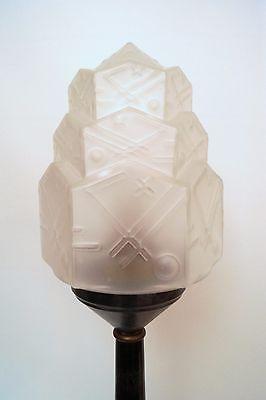 Prachtvolle original Art Déco Skyscraper Tischlampe Lampe