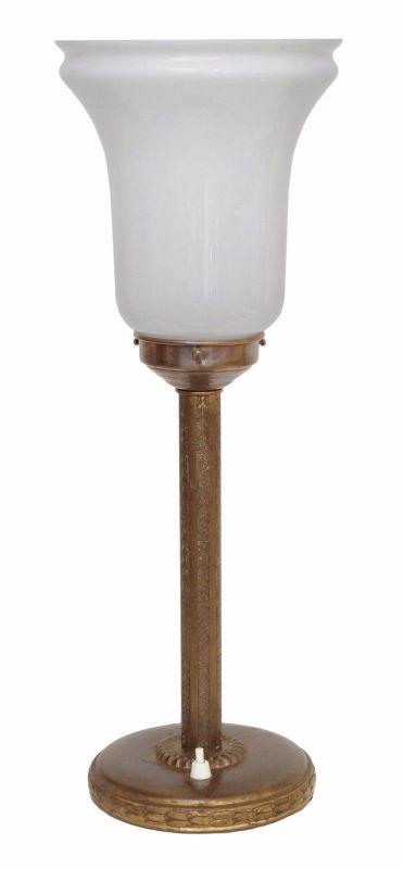 Original Art Deco Messinglampe Bankerlampe Bankerleuchte MAZDA Style 1930