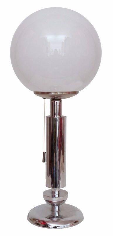 Orig. 70er Retro Bauhaus Schreibtisch Design Schreibtischleuchte Arztlampe Chrom
