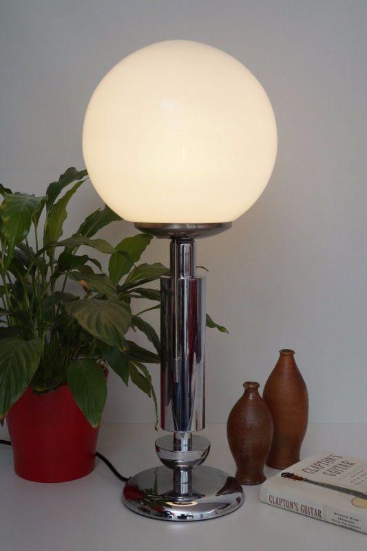Orig. 70er Retro Bauhaus Schreibtisch Design Schreibtischleuchte Arztlampe Chrom 1