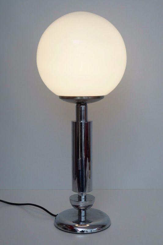 Orig. 70er Retro Bauhaus Schreibtisch Design Schreibtischleuchte Arztlampe Chrom 2
