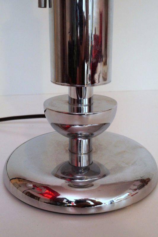 Orig. 70er Retro Bauhaus Schreibtisch Design Schreibtischleuchte Arztlampe Chrom 6