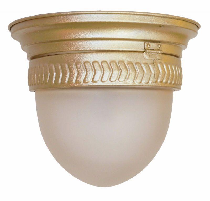 Original Jugendstil Plafoniere Deckenlampe Hängeleuchte Messing