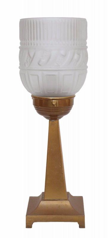 Original Art Nouveau Art Deco Tischleuchte 1930 Lampe Messing zierlich