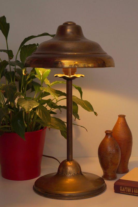 Klassische Art Deco Arbeitslampe Schreibtischlampe Banker Berlin Bankerlampe 1