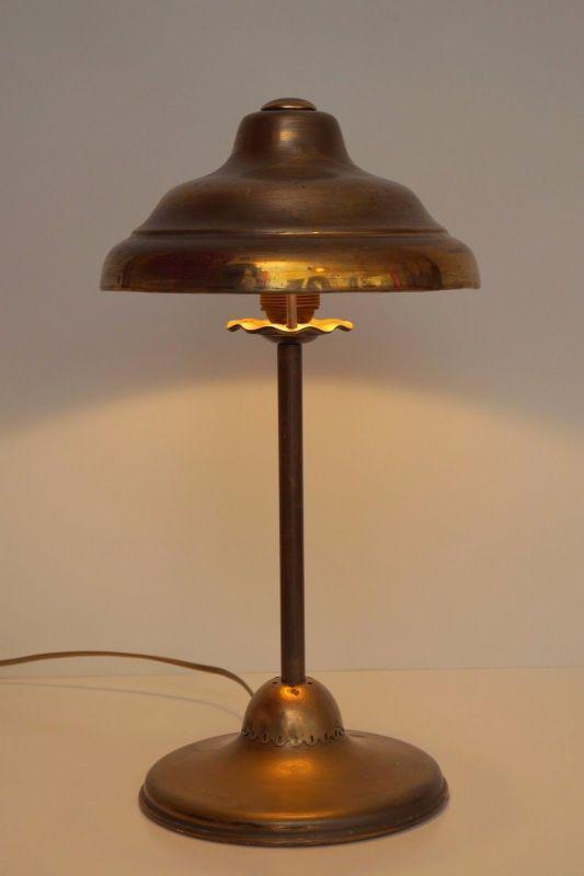 Klassische Art Deco Arbeitslampe Schreibtischlampe Banker Berlin Bankerlampe 2