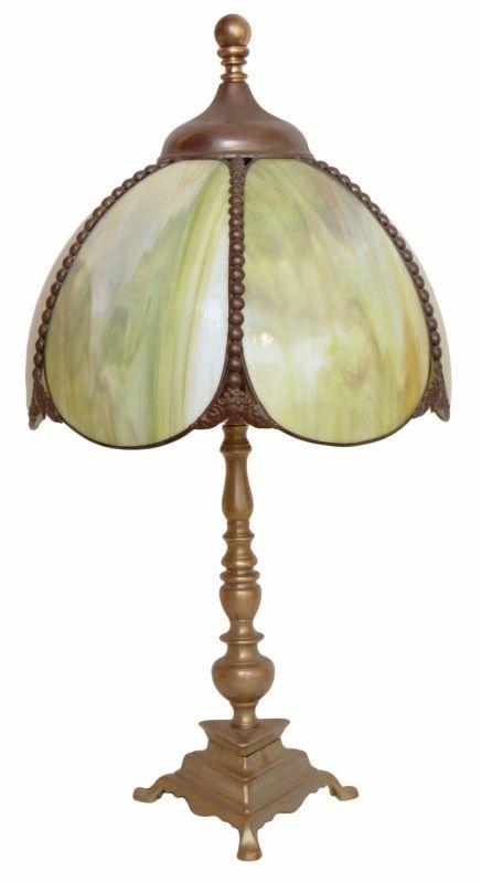 Romantische original Jugendstil Tischlampe Messinglampen Berliner Lampe Messing