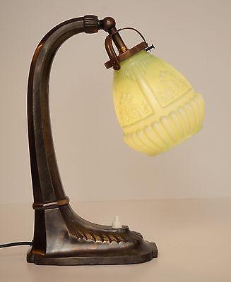 Edle original Jugendstil Nachttisch Klavierleuchte Klavierlampe um 1900 0