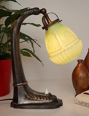 Edle original Jugendstil Nachttisch Klavierleuchte Klavierlampe um 1900 2