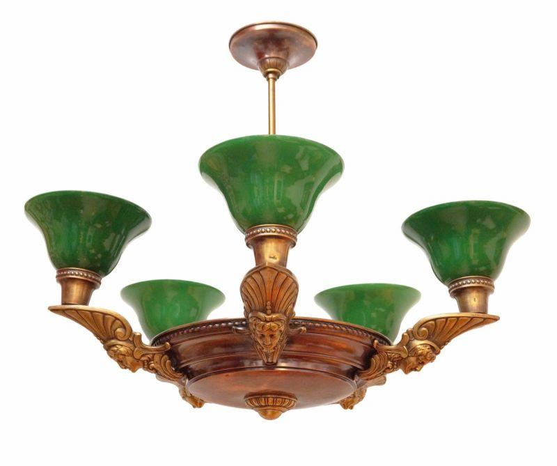 Toller orig. Art Deco Deckenleuchte Art Nouveau Hängelampe 1920