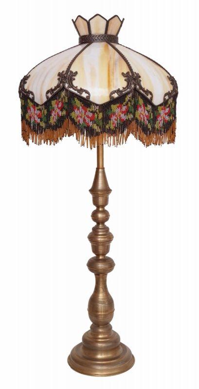 Unikat Jugendstil Stehlampe Prunkleuchte Messing Stehleuchte Tiffany Einzelstück