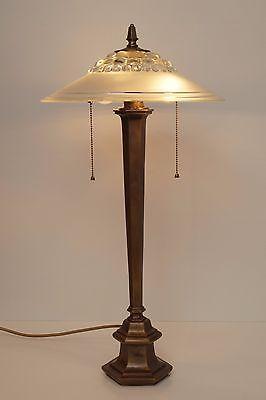 Sammlerstück original Art Nouveau Schreibtischlampe 1930 Bronze Messing