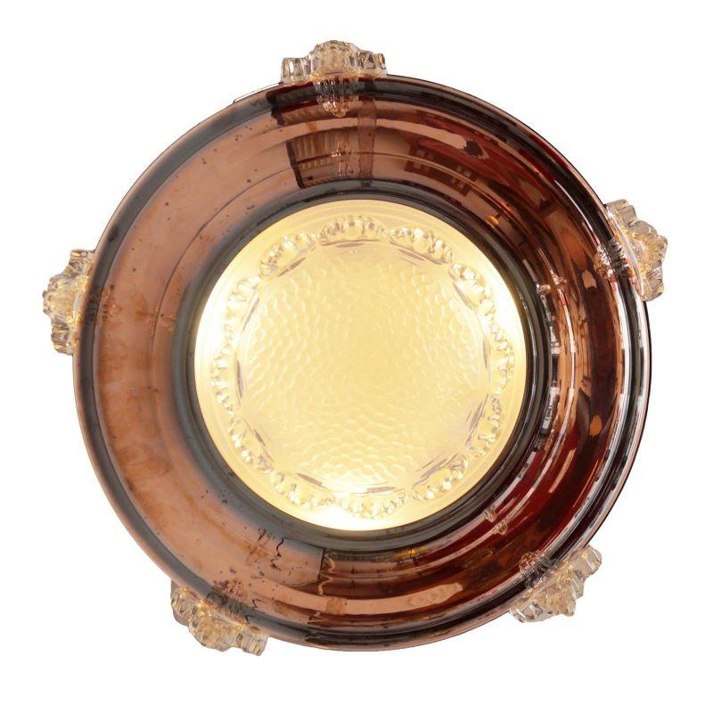 Sammlerstück original französische Art Déco Deckenlampe Hängelampe EZAN Nouveau 4