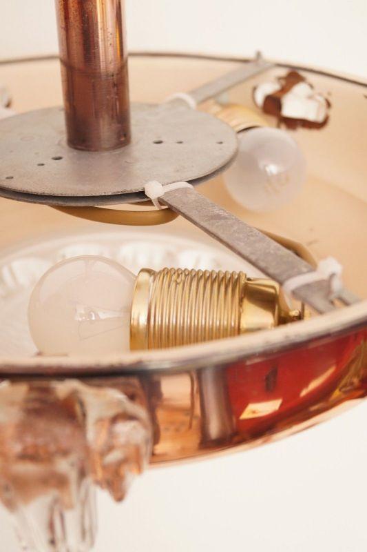 Sammlerstück original französische Art Déco Deckenlampe Hängelampe EZAN Nouveau 8