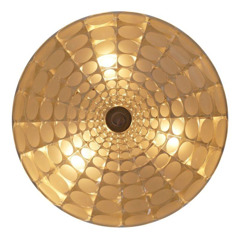 Einmalige original Seventies Design Deckenlampe Wandleuchte Aluminium Retro 40cm 2