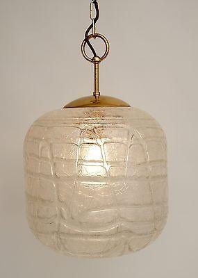 Sehr große original 70er Jahre Deckenlampe Hängelampe retro Glas 2